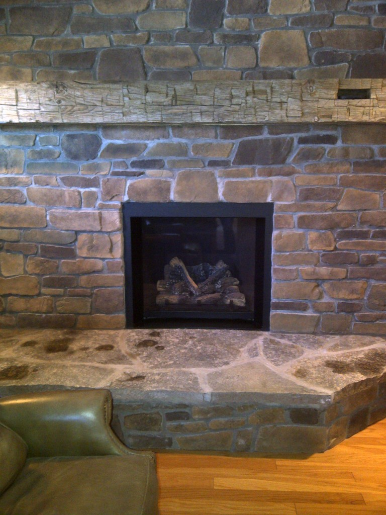 Fireplace stone work trendy gallery vonderhaar with fireplace stone work affordable rustic - Building river stone walls with mortar sobriety and elegance ...