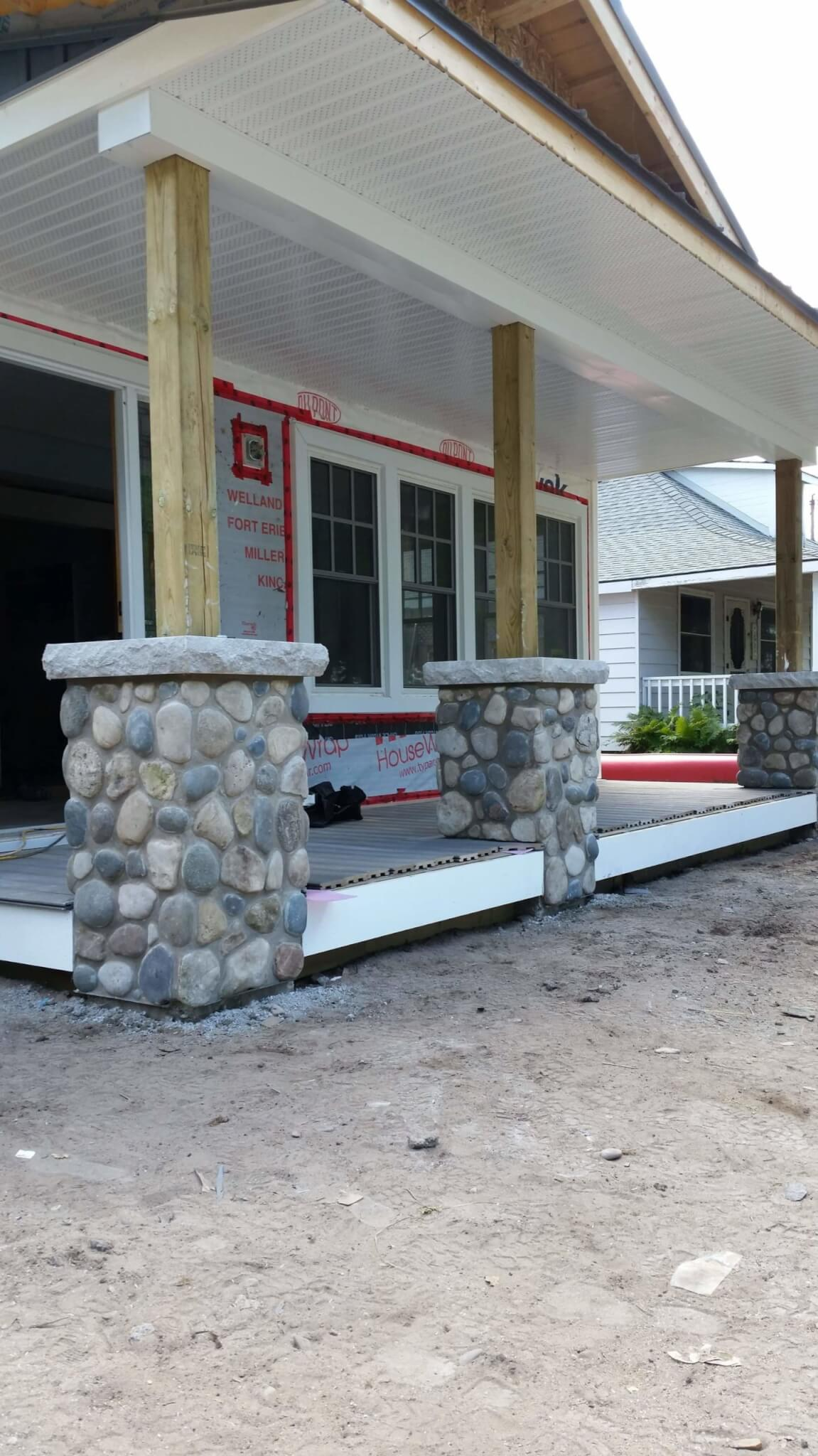stone pillar restoration